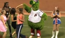 Phillie Phanatic Dances With Spice Girls And Vanilla Ice During 90s Retro Night At Citizens Bank Park (Videos)