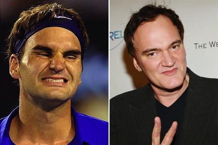 quentin-tarantino-roger-federer-celeb-athlete-look-alikes