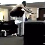 rajon rondo verticle leap jumps on 5 foot box