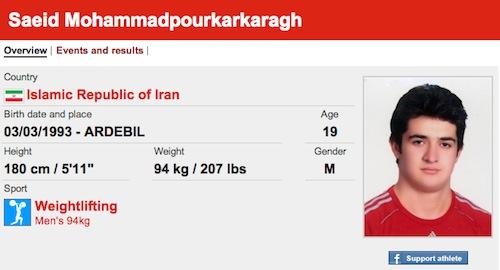 saeid mohammadpourkarkaragh funny olympic names