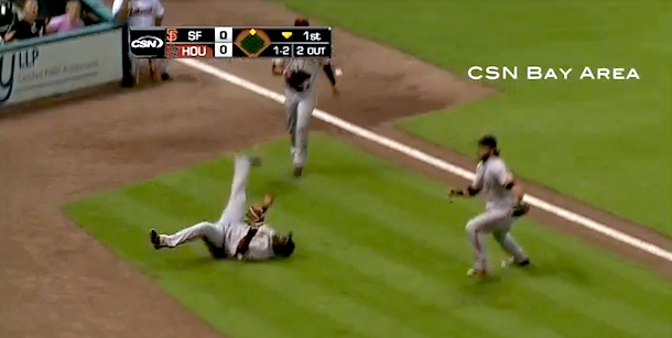 sandoval and crawford make crazy catch