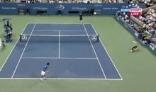US Open Ball Boy Takes A Spill (Video)