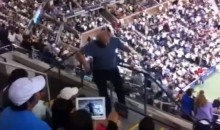 Dancing Fan At US Open Falls Down The Stairs (Video)