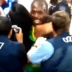 usain bolt attacked kissed by fan
