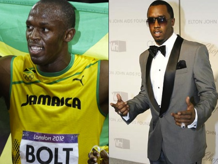 usain bolt p diddy olympic athlete celebrity look alikes