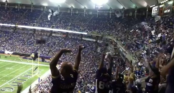 vikings wave metrodome