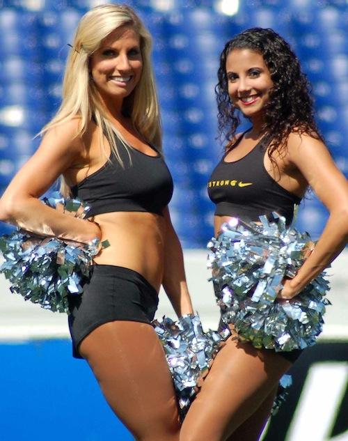 9 chesapeake bayhawks hawkettes cheerleaders STEPHANIE B & JADE G