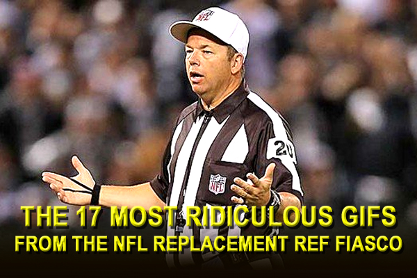 NFL REPLACEMENT REFS GIFS