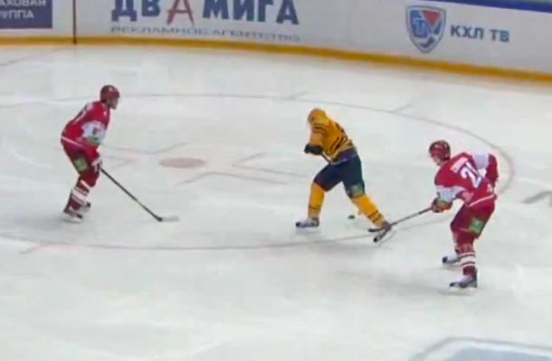 Nikolay Zherdev beautiful goal through the legs