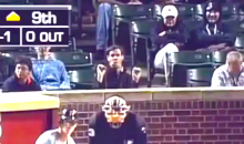 Some Classy Cubs Fan Was Making Inappropriate Oral Gestures Behind Home Plate Monday Night (Video)