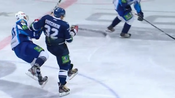 alex ovechkin khl hit