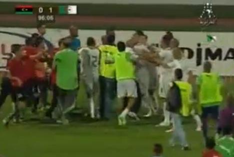 algeria libya brawl