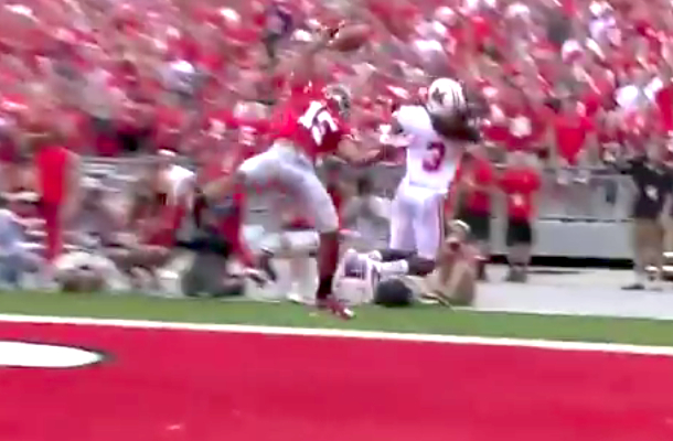 amazing catch ohio state college football