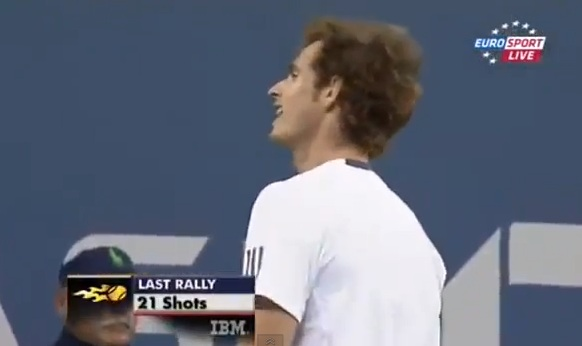 andy murray f-bomb us open