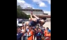 Drunken Bears Fan Learns That Tailgating And Pole Dancing Are A Dangerous Combination (Video)