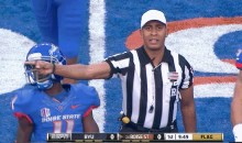Boise State Player Gets Punched In The Face By Ref (GIF)