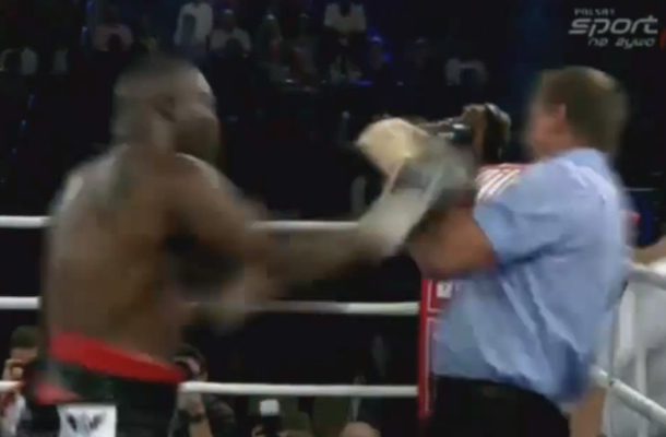 boxer punches referee