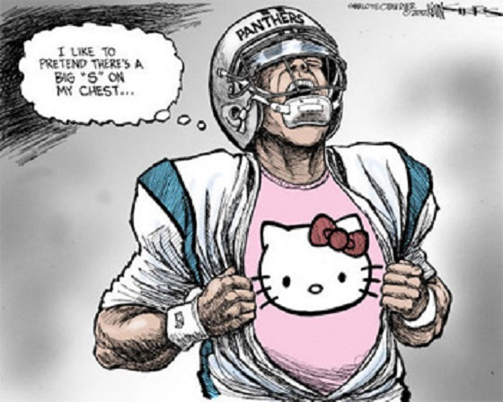 cam newton cartoon charlotte observer