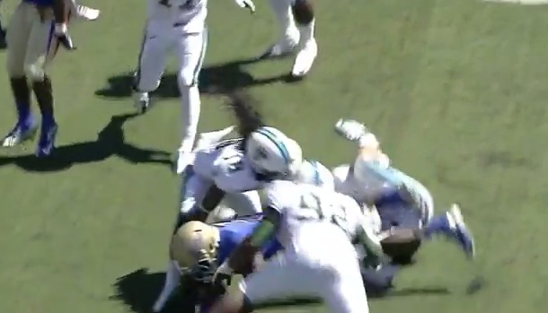 college football player breaks neck