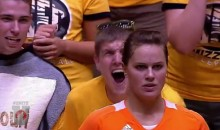 Nerves Of Steel: This Tennessee Volleyball Player Just Ignores The Mizzou Fan Screaming At Her From Inches Away