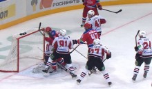 Pavel Datsyuk Scores Goal With His Head During KHL Game (Video)