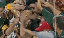 Donald Driver Took A Beer Shower During His Lambeau Leap (GIF)