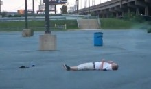 Drunk Phillies Fan Faceplants Into Asphalt (Video)