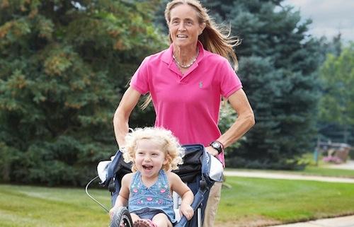 fastest half marathon pushing a stroller nancy schubring