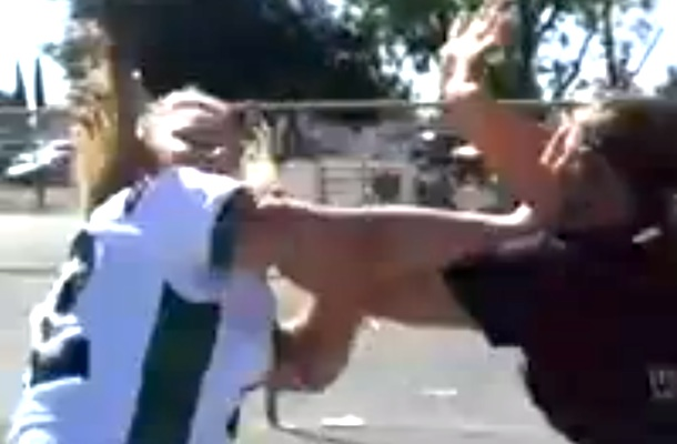 football moms fight in parking lot
