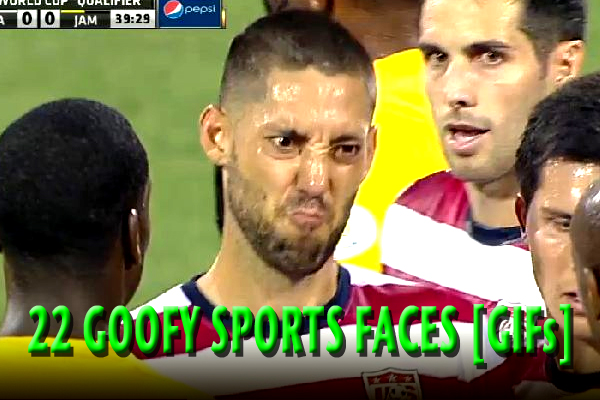 goofy sports face athletes making weird faces clint dempsey