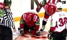 Gruesome Hockey Laceration: KHL Player Loses Pint Of Blood After Carotid Artery Slashed By Skate (Video)