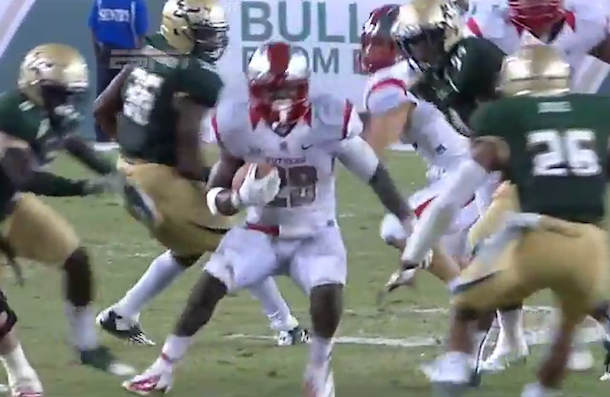 jawan jamison rutgers awesome run for touchdown spin move