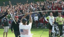 This Caddy Was Crazy Excited About Keegan Bradley's Putt At The Ryder Cup (GIF)