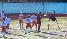 One-Legged Soccer Player Scores Amazing Scissor Kick Goal (Video)