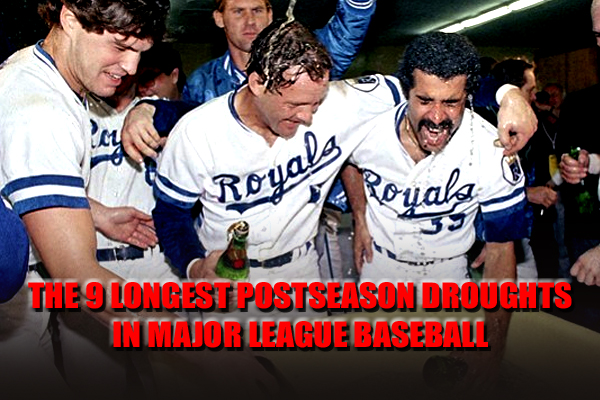 longest mlb baseball postseason playoff droughts
