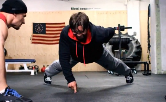 max talbot one-finger push-up