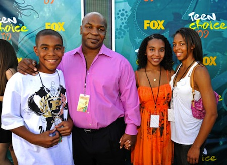 mike tyson and some of his kids