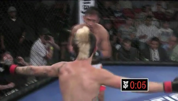 mma fighter shai lindsey taunts carlo juinio then gets knocked out