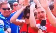 Female Rangers Fan Likes To Party And Drop F-Bombs On Live Television (Video)