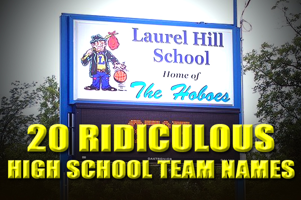 ridiculous funny weird high school team names mascots