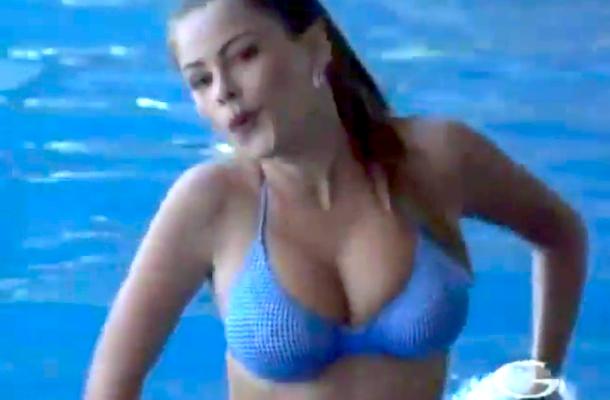 sofia vergara bikini workout swimming pool
