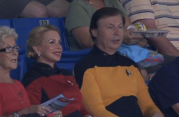 star trek night at tropicana field tampa rays