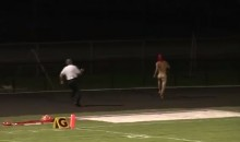 High School Football Streaker Escapes via Getaway Car (Video)