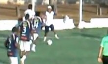 Brazilian Soccer Club's Trainer Runs Onto Field To Thwart Scoring Opportunity (Video)