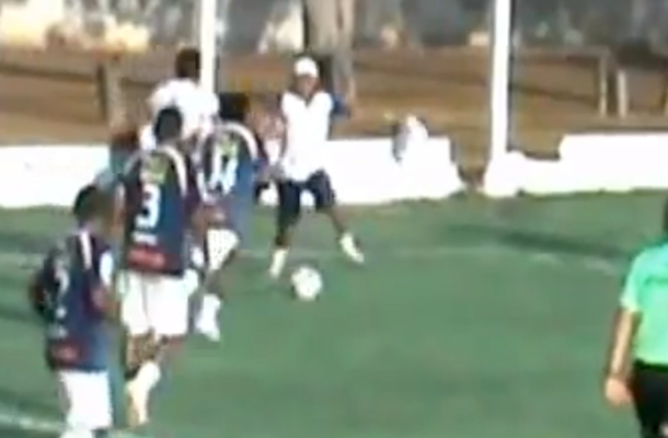 trainer for brazilian soccer team interferes with play