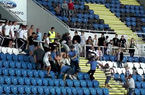 ukrainian soccer brawl