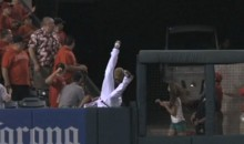Vernon Wells Didn't Make The Catch, But Boy Did He Try (Video)
