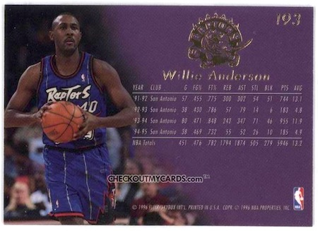 willie anderson basketball card lots of kids