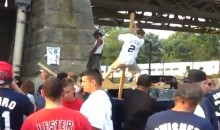 Yankees Fan Falls Off Stage While Pole Dancing (Video)