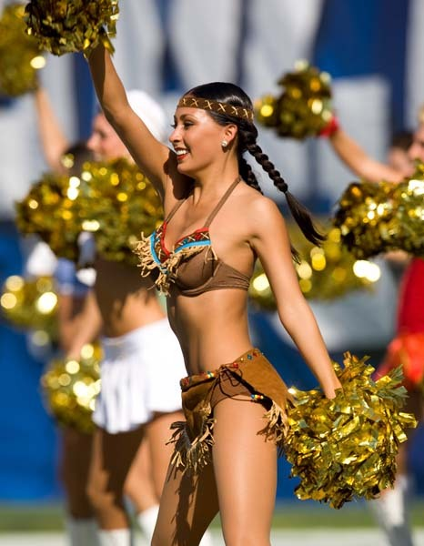 1 Sexy Indian - NFL Cheerleaders Halloween Costumes